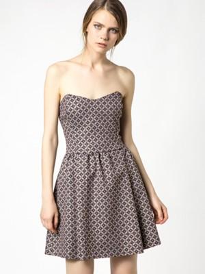 Patrizia Pepe - Платье из люрекса с графическим узором от Patrizia Pepe