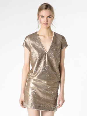 Patrizia Pepe - Мини-платье с пайетками по всей поверхности от Patrizia Pepe