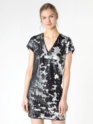 Patrizia Pepe - Короткое платье с пайетками по всей поверхности от Patrizia Pepe