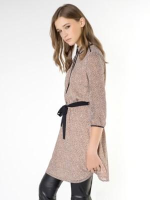 Patrizia Pepe - Короткое платье из гладкой ткани