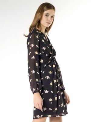 Patrizia Pepe - Короткое платье из жоржета с рисунком