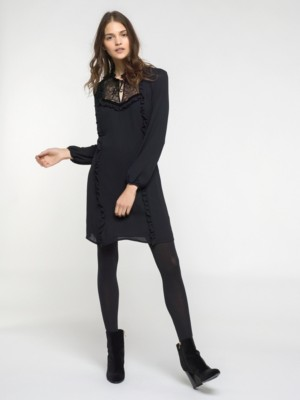 Patrizia Pepe - Платье до колен с длинным рукавом из вискозного крепа от Patrizia Pepe