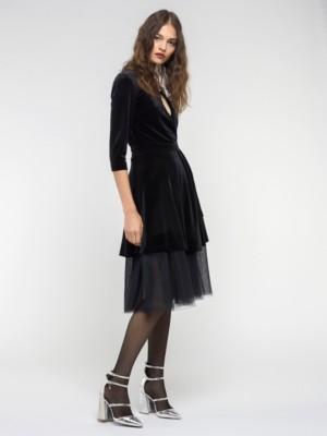 Patrizia Pepe - Платье из эластичного бархата