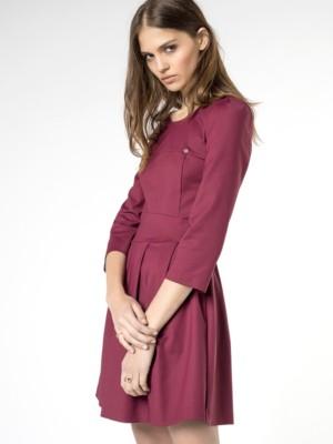 Patrizia Pepe - Платье-венчик из хлопковой ткани стрейч