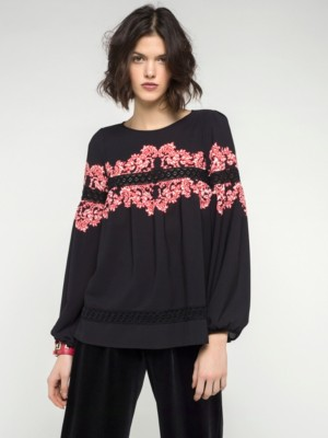 Patrizia Pepe - Рубашка-туника из струящейся принтованной ткани
