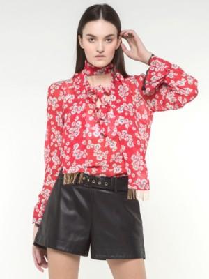 Patrizia Pepe - Рубашка-туника из струящейся принтованной ткани от Patrizia Pepe
