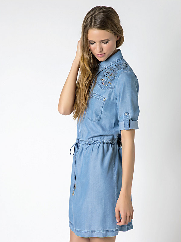 Abito in denim lyocell C387 1