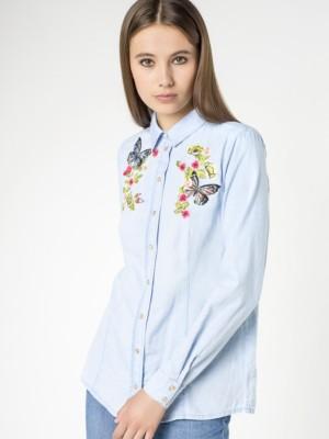 Patrizia Pepe - Рубашка с длинным рукавом из мягкого денима от Patrizia Pepe