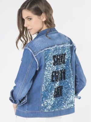 Patrizia Pepe - Джинсовая куртка с длинным рукавом