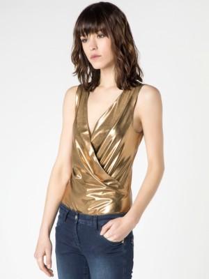 Patrizia Pepe - Топ-боди из ткани с пропиткой Gold