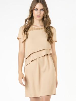 Patrizia Pepe - Короткое платье из вискозного крепа с драпировкой