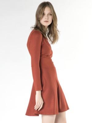 Patrizia Pepe - Короткое платье из вискозного джерси стрейч