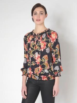Patrizia Pepe - Рубашка-туника с длинным рукавом из шелка и вискозы