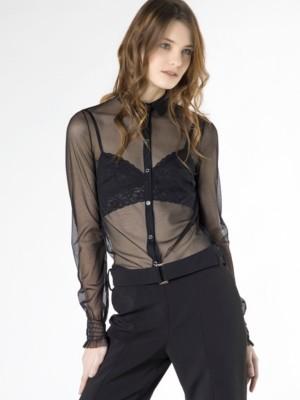 Patrizia Pepe - Рубашка с длинным рукавом из эластичного тюля от Patrizia Pepe