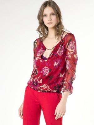 Patrizia Pepe - Рубашка-туника с цветочным принтом