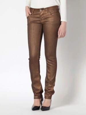 Patrizia Pepe - Обтягивающие джинсы с 5 карманами с блестящим покрытием