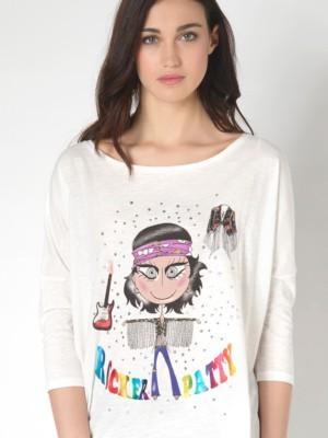 Patrizia Pepe - Хлопковая футболка с аппликациями
