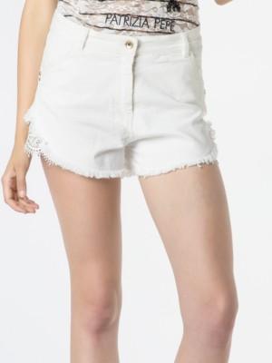 Patrizia Pepe - Джинсовые шорты с завышенной талией из хлопкового полотна стрейч
