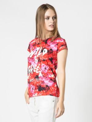 Patrizia Pepe - Хлопковая футболка с коротким рукавом