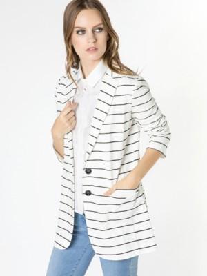 Patrizia Pepe - Мужской пиджак из ткани с рисунком в полоску