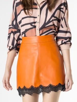 Patrizia Pepe - Мини-юбка с ламинированным эффектом с блестящим покрытием
