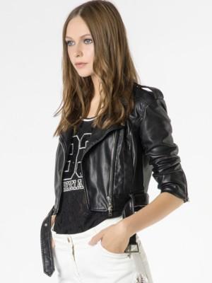 Patrizia Pepe - Байкерская куртка с воротником и ремнем