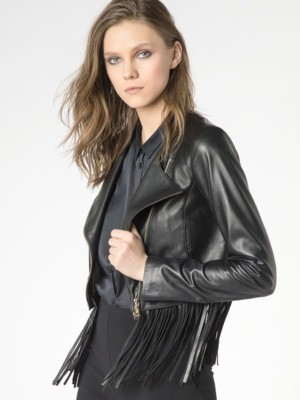 Patrizia Pepe - Кожаная куртка-косуха
