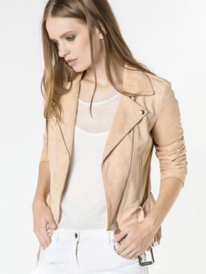 Patrizia Pepe - Куртка-косуха из замши в сочетании с джерси в тон
