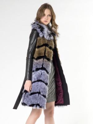 Patrizia Pepe - Пальто макси-жилет из искусственного меха