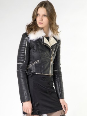 Patrizia Pepe - Куртка-косуха из дубленой кожи