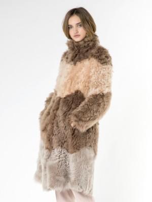 Patrizia Pepe - Пальто из кожи ягненка Велюр с негладким мехом