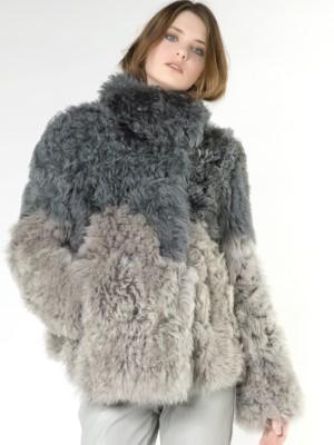 Patrizia Pepe - Короткое пальто из кожи ягненка Велюр с негладким мехом