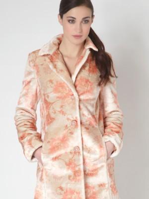 """Patrizia Pepe - Пальто с рисунком из ткани """"с бархатным эффектом"""""""