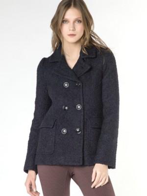 Patrizia Pepe - Пальто из шерсти и альпаки с эффектом букле