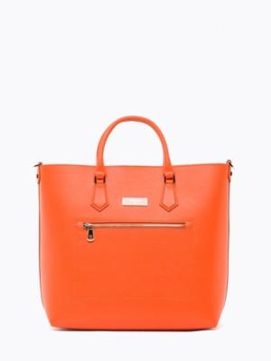 Patrizia Pepe - Вертикальная сумка-шоппер из кожи со съемным ремнем через плечо
