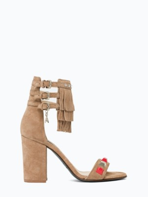 Patrizia Pepe - Замшевые сандалии с металлическими аппликациями