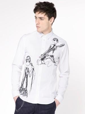 Patrizia Pepe - Рубашка с длинным рукавом зауженного кроя из хлопкового поплина стрейч