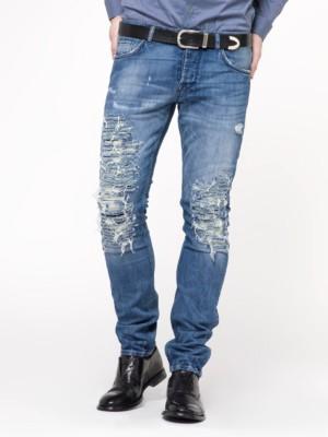 Patrizia Pepe - Облегающие джинсы с 5 карманами из денима стрейч цвета индиго
