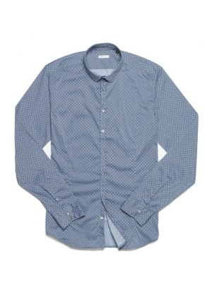 Patrizia Pepe - Рубашка с длинным рукавом, узкий крой, из принтованного хлопкового поплина стрейч
