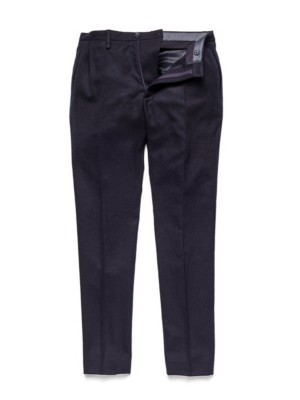 Patrizia Pepe - Свободные в бедрах брюки из легкой шерсти с диагональным переплетением