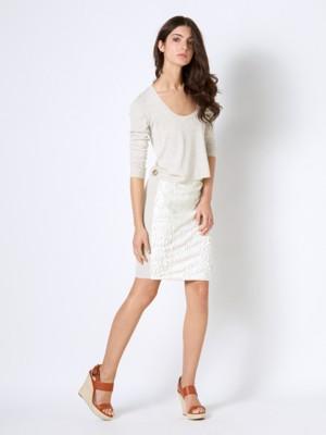 Patrizia Pepe - Короткое платье из вискозного полотна в сочетании с экокожей от Patrizia Pepe
