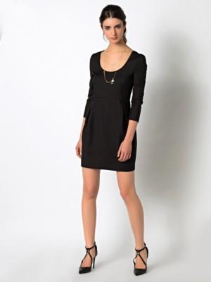 Patrizia Pepe - Короткое платье с вытачками спереди из биэластичной ткани кутюр от Patrizia Pepe