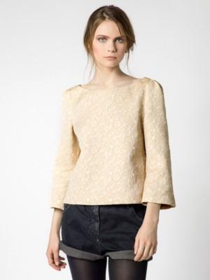 Patrizia Pepe - Рубашка с длинным рукавом из жаккардовой ткани в рисунок с люрексом