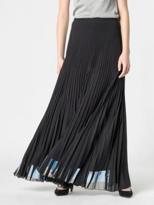 Patrizia Pepe - Длинная плиссированная юбка из гладкой ткани