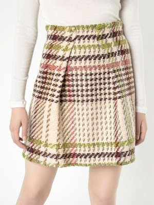 Patrizia Pepe - Мини-юбка из полушерстяной ткани, перевивочное переплетение