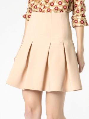 Patrizia Pepe - Короткая юбка-солнцеклеш из вискозного крепа стрейч