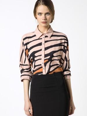 Patrizia Pepe - Рубашка с длинным рукавом из принтованной струящейся ткани