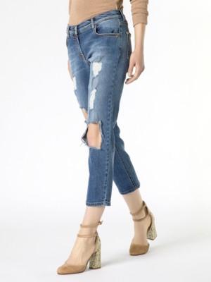 Patrizia Pepe - Удобные джинсы с заниженной мотней из денима стрейч