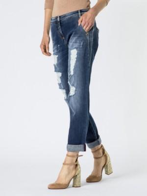 Patrizia Pepe - 5-карманные джинсы с заниженной мотней из денима стрейч