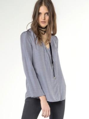 Patrizia Pepe - Рубашка с длинным рукавом из шелковой вискозы